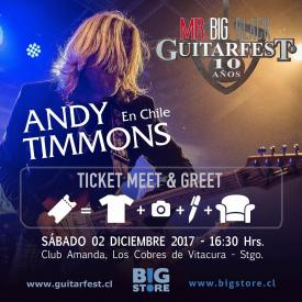 E-Ticket Meet&Greet Guitarfest 10 Años - Andy Timmons