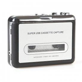 Handy USB Cassette Player and Tape-to-MP3 Digital Converter