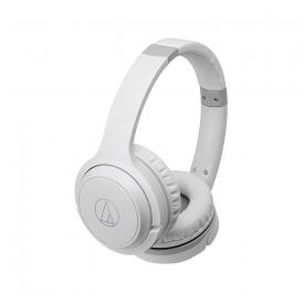 ATH-S200BTWH Bluetooth Wireless On-Ear Headphones with Built-In Mic & Controls, White