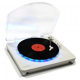 ION Audio Photon LP | 3-Speed Lighted Turntable with Multi-Color LEDs, USB Conversion, and Diamond-T