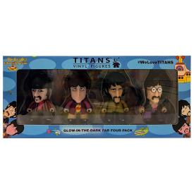 Titans Vinyl Figures - Beatles GID Fab (Four Pack)